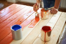 Enamel paints for wood